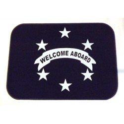 Tappetino Welcome 92x46 Blue