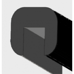 Profilo di finitura T5 - Nero